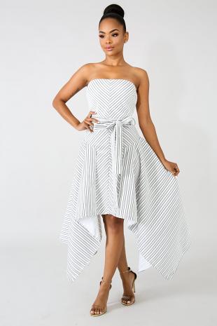 Edgy Stripe Dress