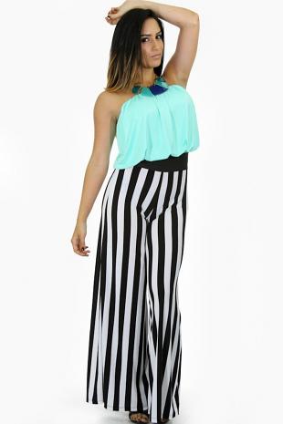 Loose Fit Stripes Jumpsuit