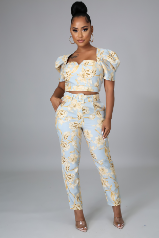Talulah Flowers Pant Set