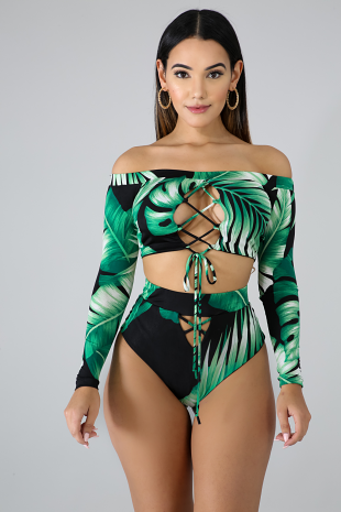 Tropical Palm Swim Set