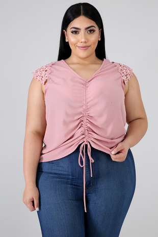 Pearl Scrunch Top