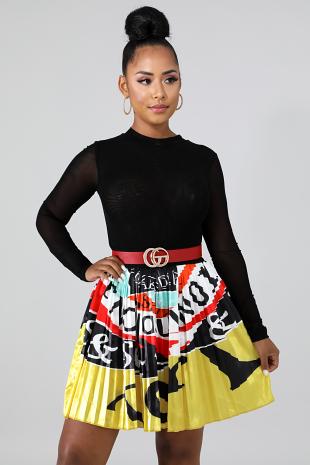Mini Gal Flare Skirt