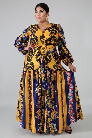 Yanci Fall Maxi Dress
