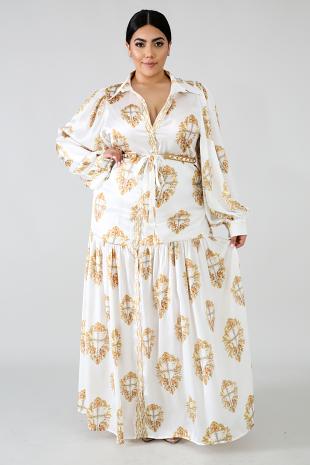 Cross Satin Maxi Dress