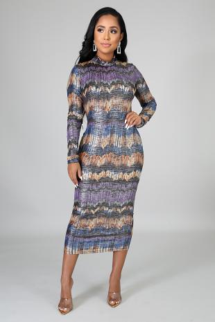 Ast Shine Midi Dress