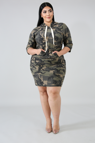 Hoody Camouflage Dress