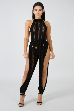 Crochet Cover Up Jumpsuit