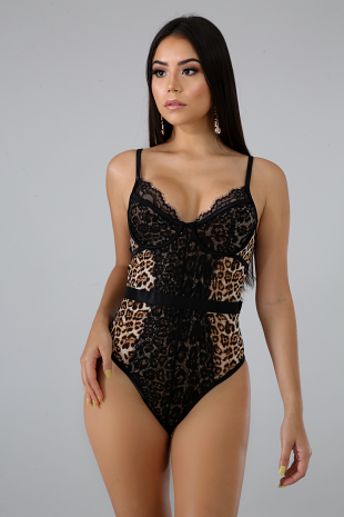 Cheetah Lace Bodysuit