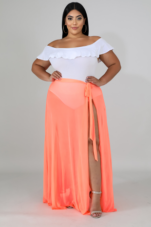 Sheer Maxi Cover Skirt