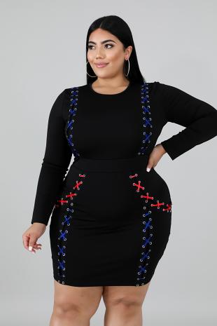 Ribbons Body-Con Dress