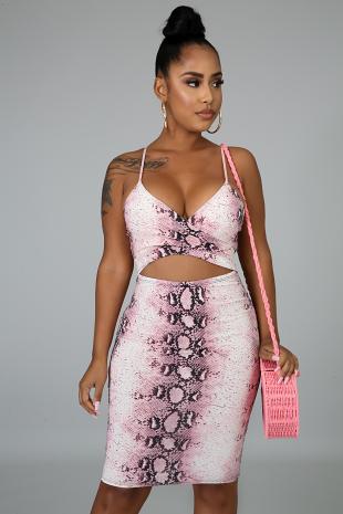 Snakeskin Mini Dress