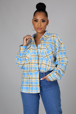 Plaid Yourself Top