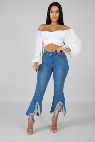 Diamond Bell Bottoms Jeans
