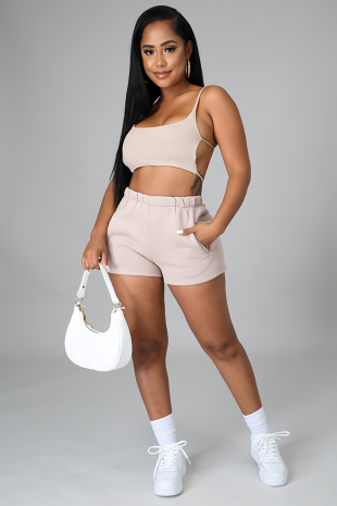 Let's Chill Boo Short Set