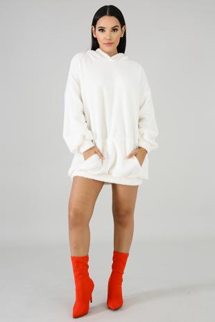 Fuzzy Long Line Sweater