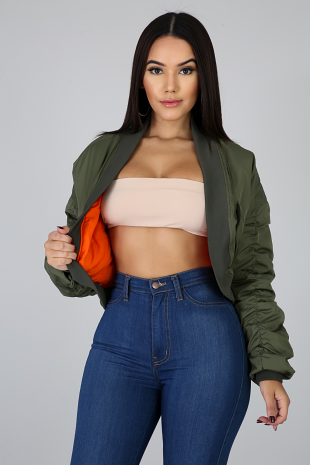 Puffer Ruched Jacket