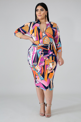 Art Fashion Body-Con Dress