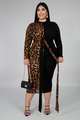 Boss Cat Midi Dress