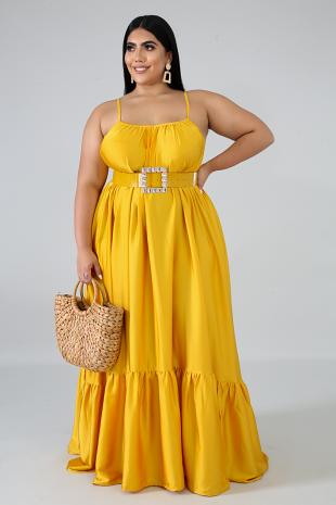 Abundant Silky Maxi Dress