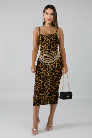 Fierce Spots Midi Dress