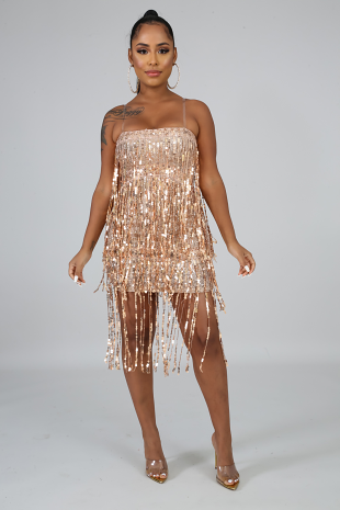 Dance With Me Sequins Dress