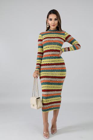 Rattling Midi Dress