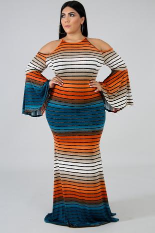 Rainbow Dye Maxi Dress
