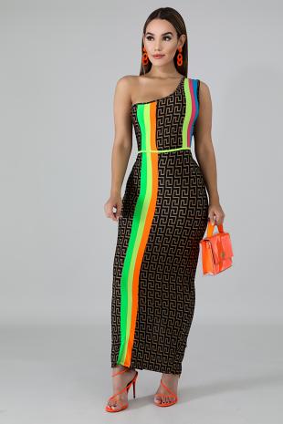 Multi Maze Maxi Dress