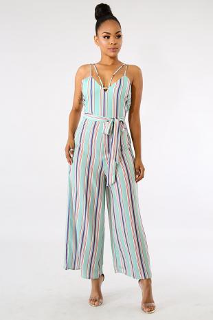 Color Popping Stripe Jumper