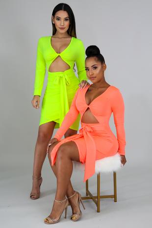 Hot & Delicious Neon Dress
