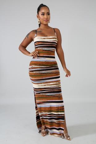 Rustic Slit Dress