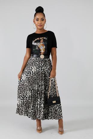 Wild Pleated Skirt