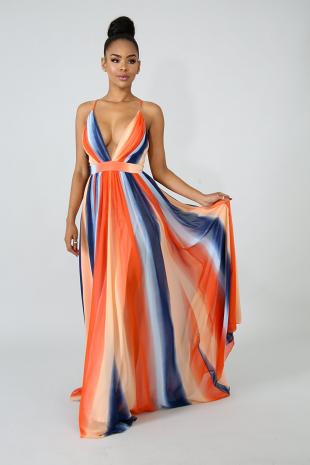 Drift Color Maxi Dress