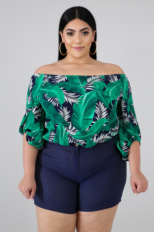 Green Forest Casual Top