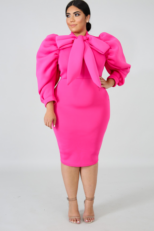Bow Bomb Body-Con Dress