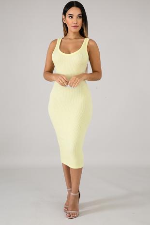 On The Go Knit Midi Dress