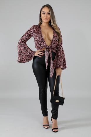 Cheetah Silky Kimono