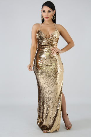 Stephany Sequin Maxi Dress