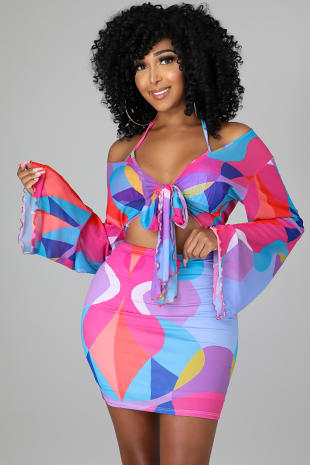 3pc Bondi Beach Skirt Set