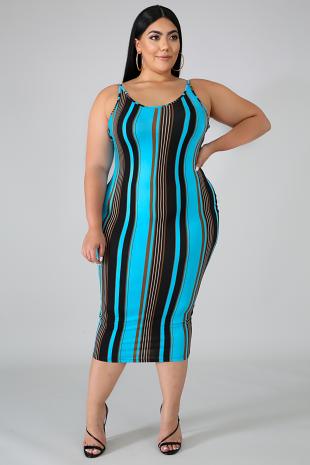 Flannel Midi Dress