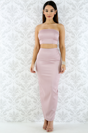 Silk Bandage Skirt Set