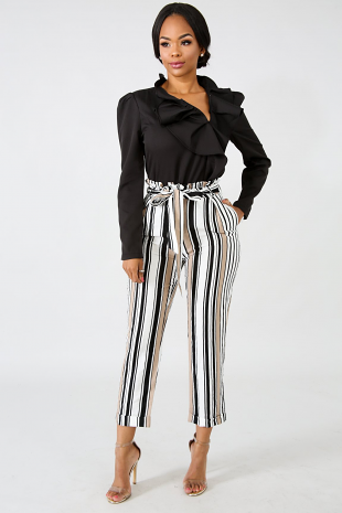 Boxy Stripe Pants