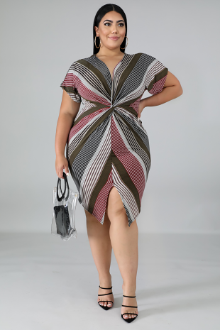 Twist Stripe Dress