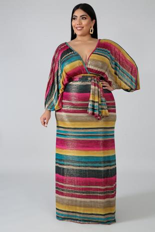 Kimono Shine Maxi Dress
