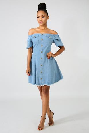 Denim Girly Raw Dress