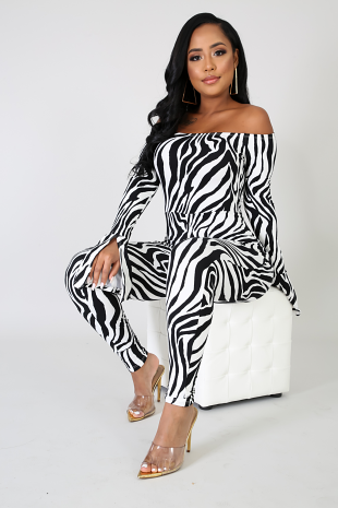 Wild Stripes Jumpsuit