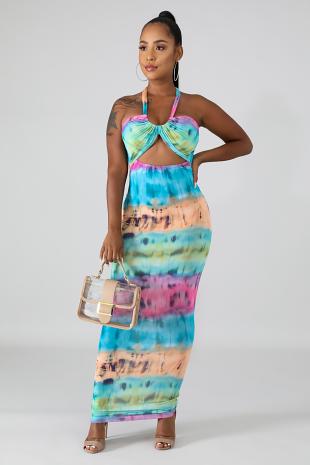 Twist Dye Mermaid Dress