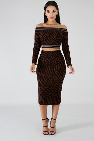 Dazzle Maze Skirt Set