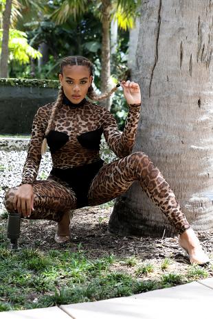 Suede Cheetah Jumper