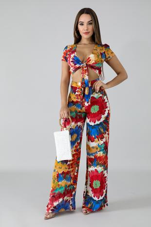 Floral Paint Jumpsuit